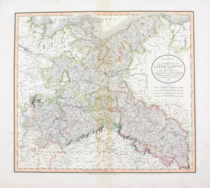 1808 A New Map of the Circle of Upper Saxony - Cary
