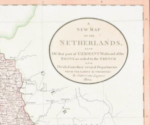 1808 A New Map of the Netherlands - Cary