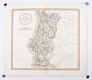 1808 A New Map of the Kingdom of Portugal - Cary
