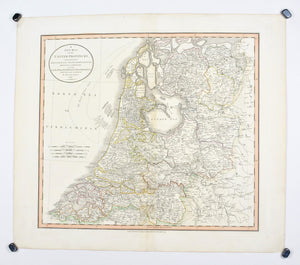 1808 A New Map of the United Provinces - Cary