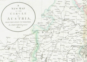 1808 A New Map of the Circle of Austria - Cary