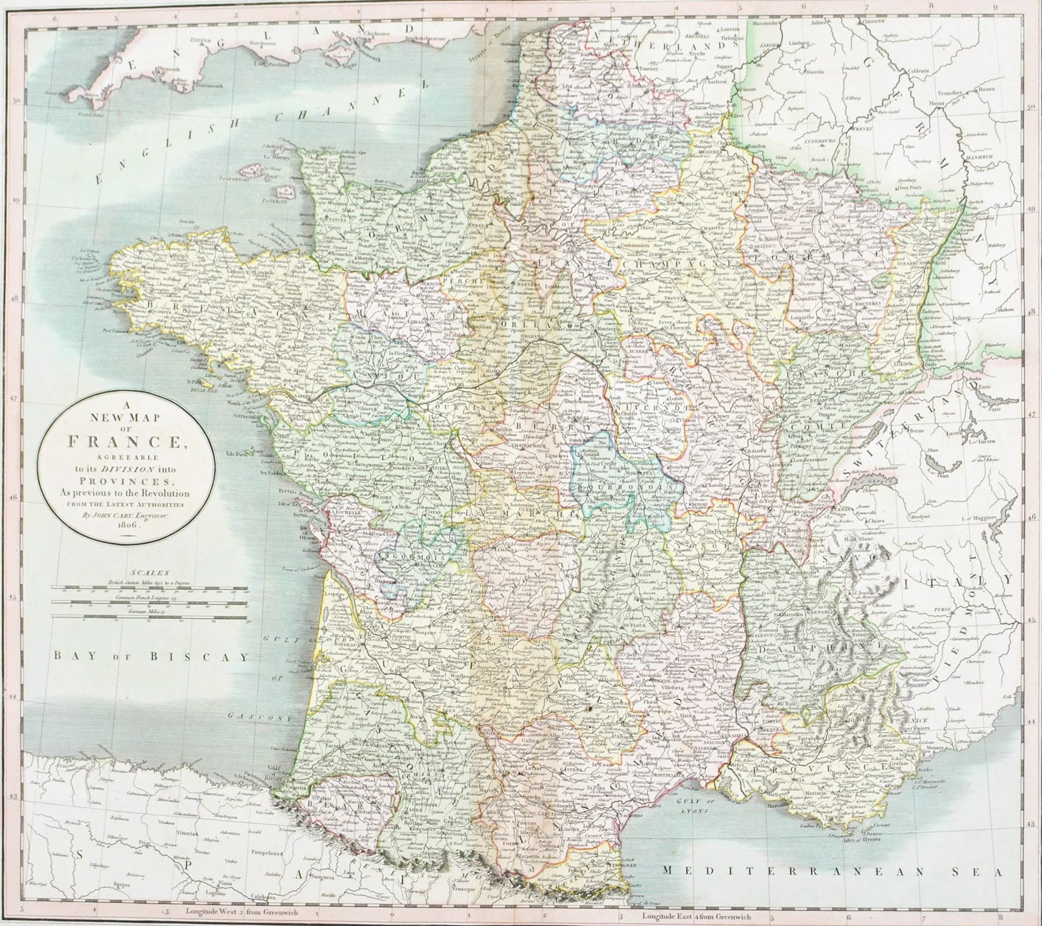 1808 a new map of france cary historic accents 1808 a new map of france cary gumiabroncs Image collections