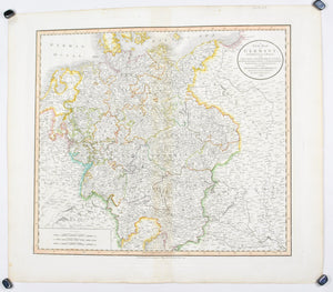 1808 A New map of Germany - Cary
