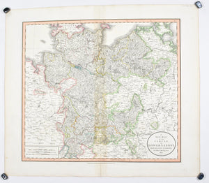1808 A New map of Circle of Lower Saxony - Cary