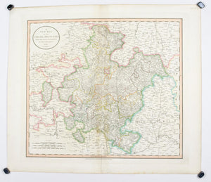1808 A New map of Circle of Franconia - Cary
