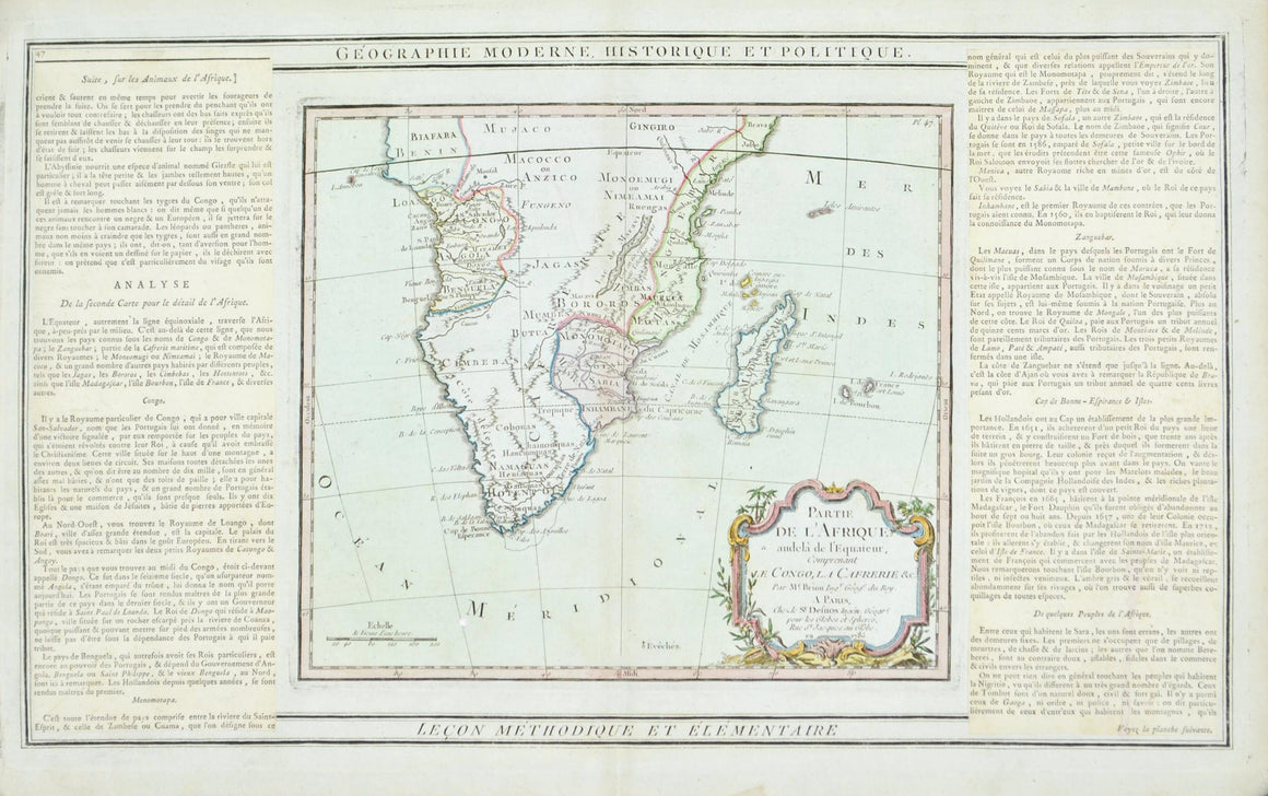 1786 Southern Africa and Madagascar - Louis Charles Desnos