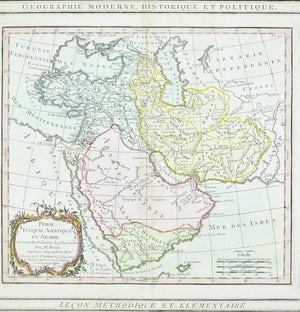 1786 Arabia Persia and Turkey - Louis Charles Desnos