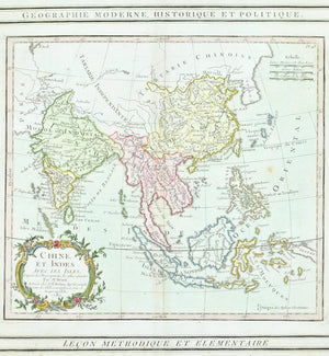 1786 India, Southeast Asia, China and East Indies - Louis Charles Desnos