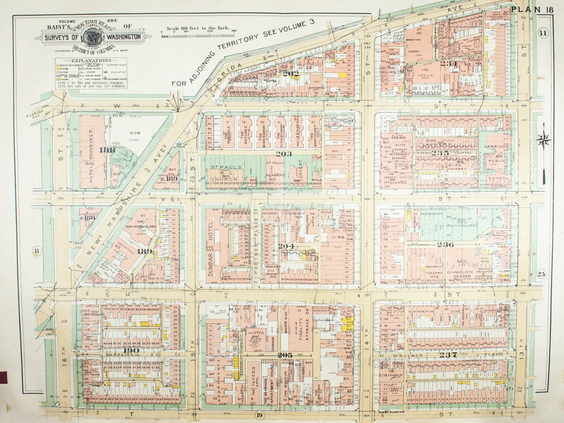 1957 Washington DC Plan 18 - Baist