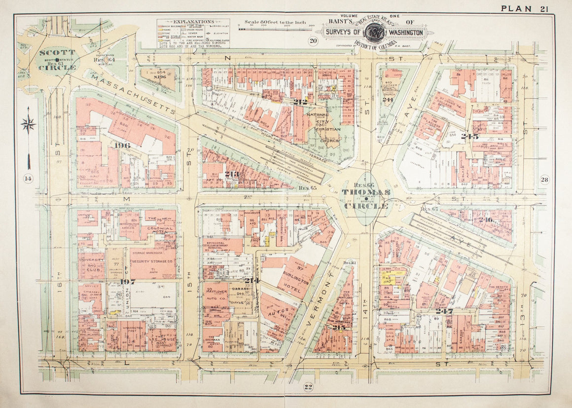 1957 Washington DC Plan 21 - Baist