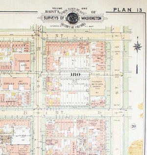 1957 Washington DC Plan 13 - Baist
