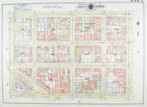1957 Washington DC Plan 9 - Baist