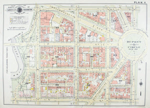1957 Washington DC Plan 6 - Baist - Dupont Circle