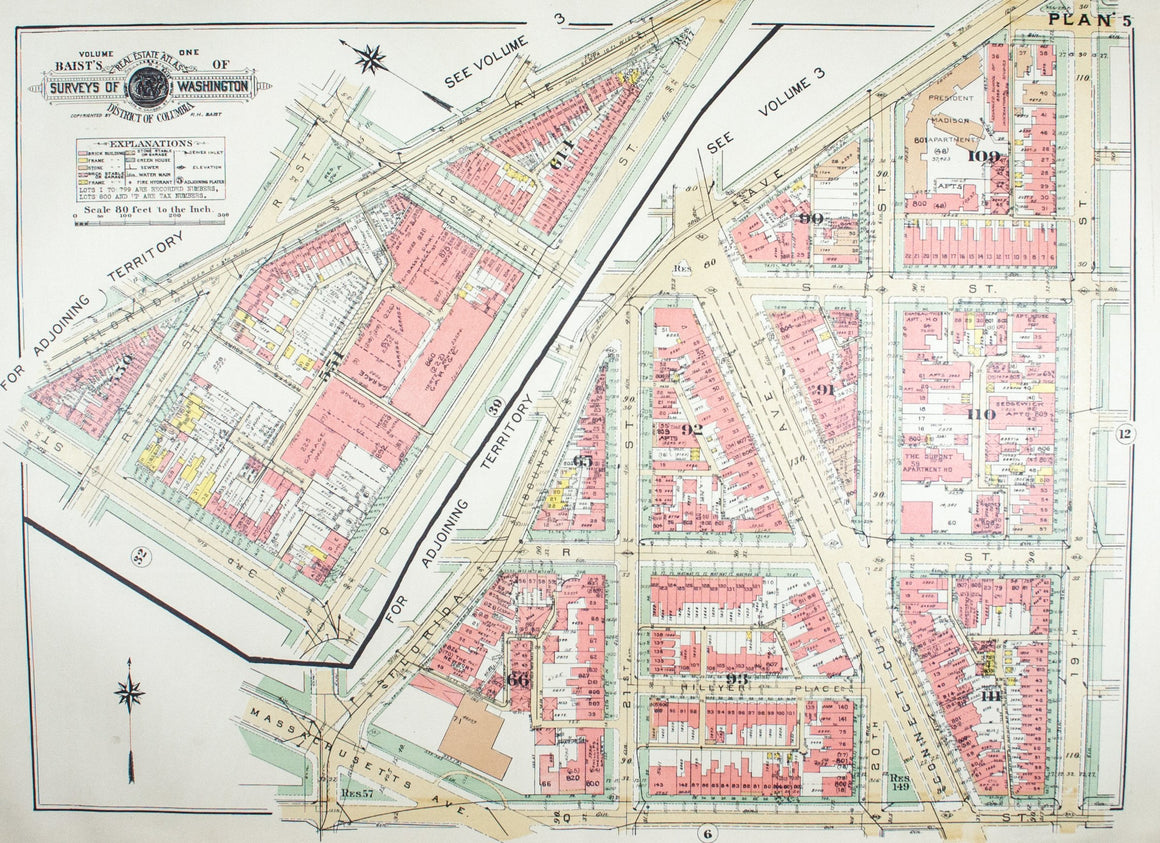 1957 Washington DC Plan 5 - Baist