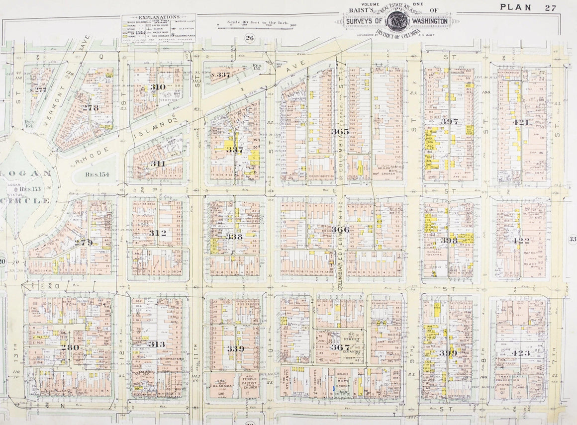 1957 Washington DC Plan 27 - Baist
