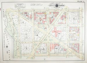 1957 Washington DC Plan 3 - Baist
