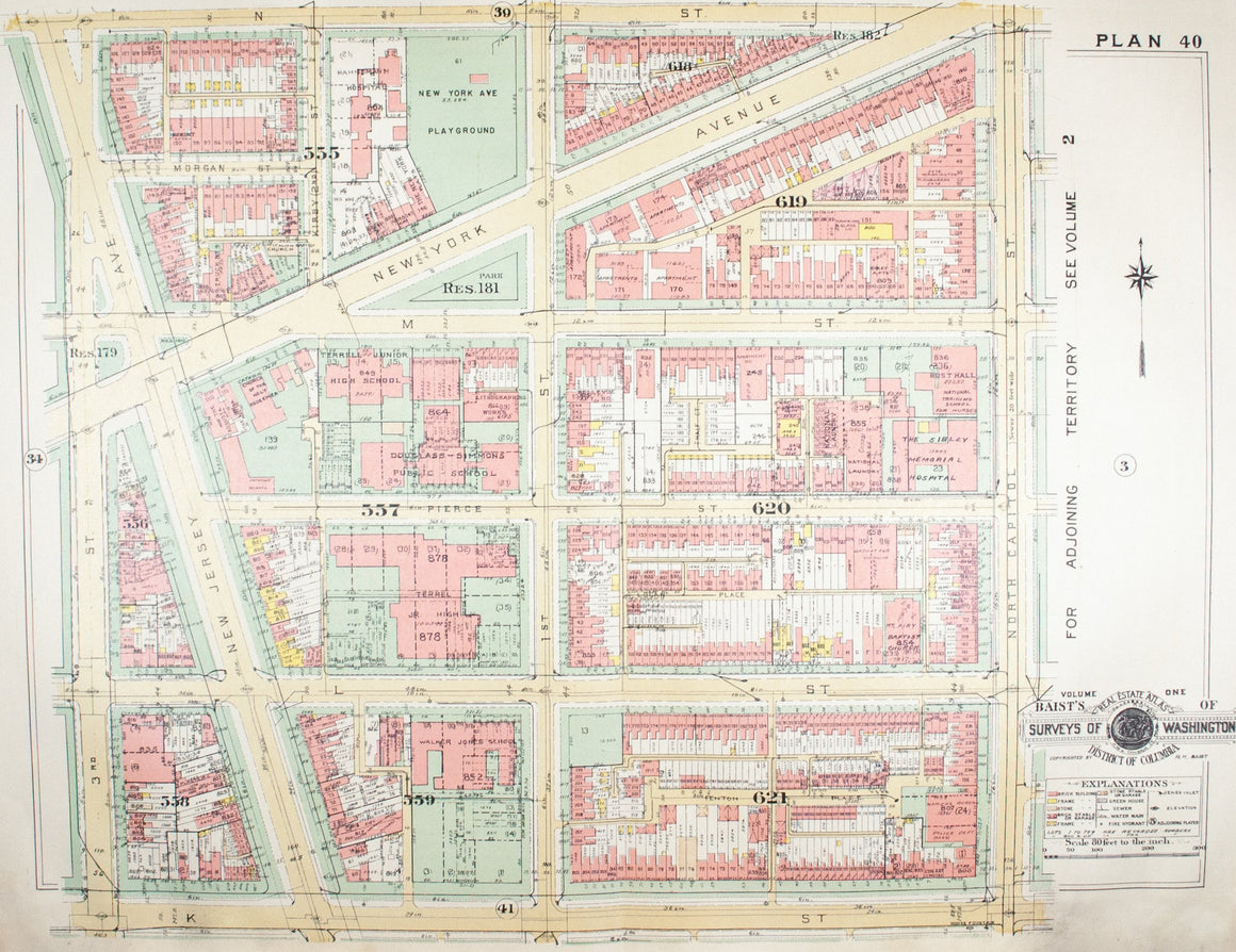 1957 Washington DC Plan 40 - Baist