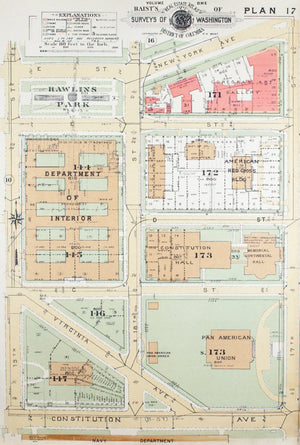 1957 Washington DC Plan 17 - Baist