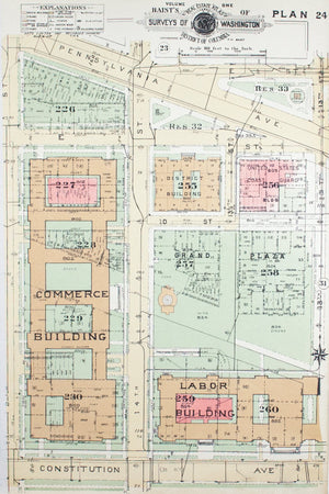 1957 Washington DC Plan 24 - Baist
