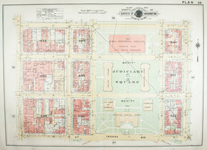 1957 Washington DC Plan 36 - Baist