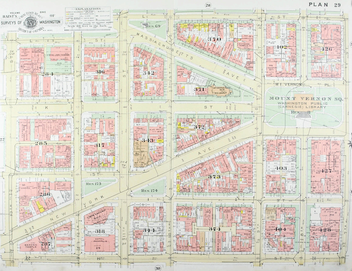 1957 Washington DC Plan 29 - Baist