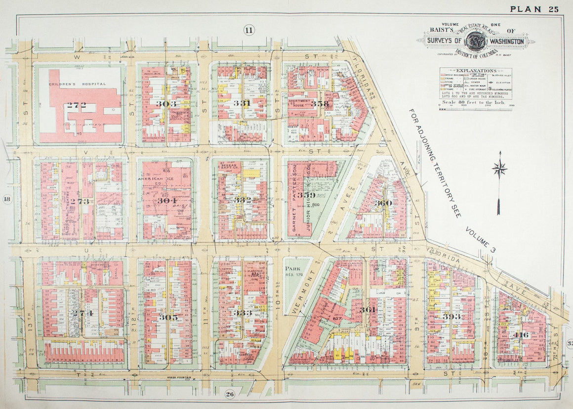 1957 Washington DC Plan 25 - Baist