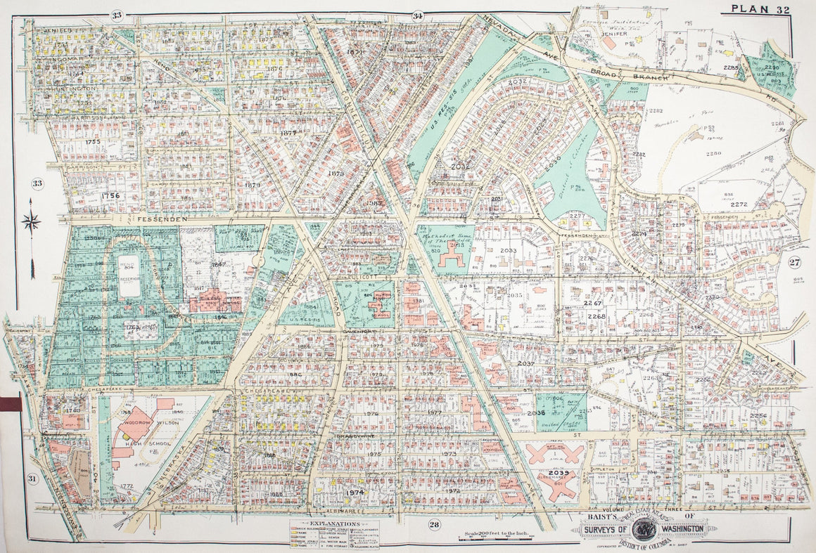 1960 Washington DC Plan 32 - Baist