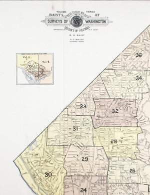 1960 Washington DC Index Map - Baist