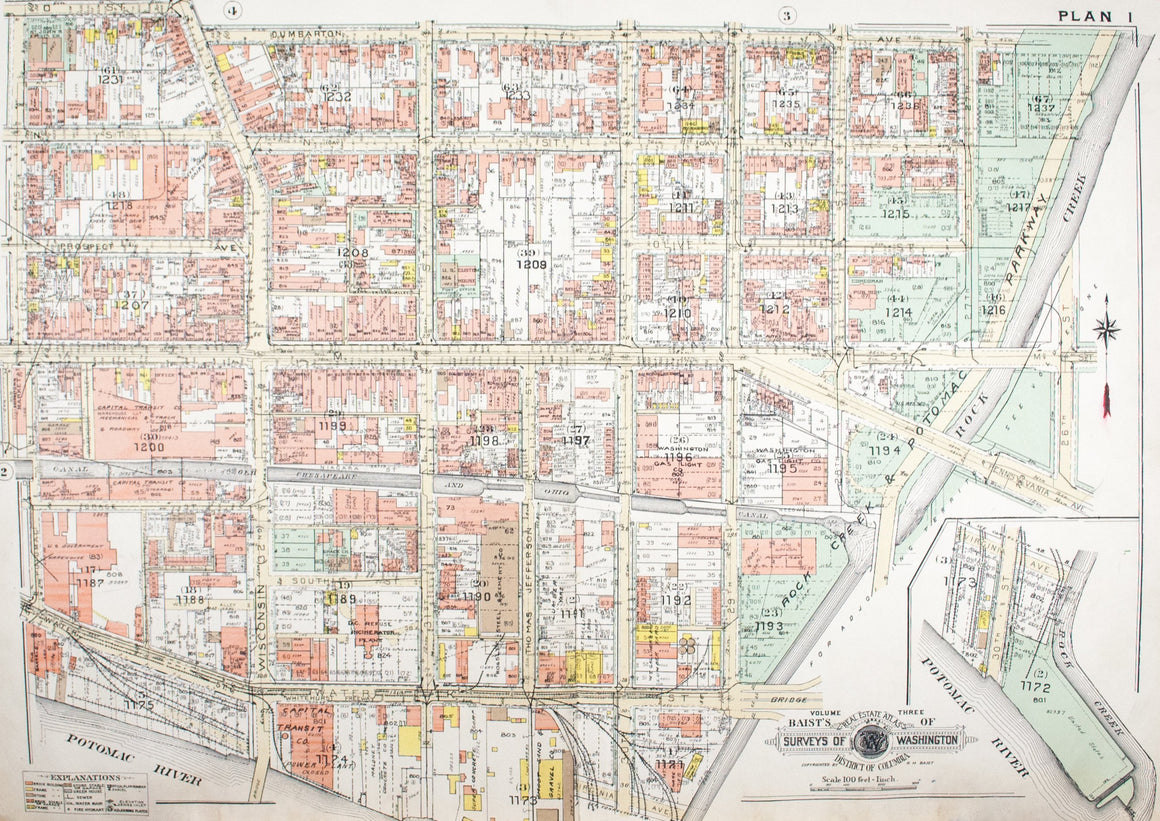 1960 Washington DC Plan 1 - Baist