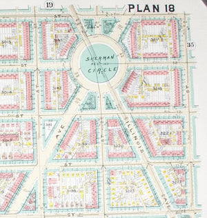 1960 Washington DC Plan 18 - Baist