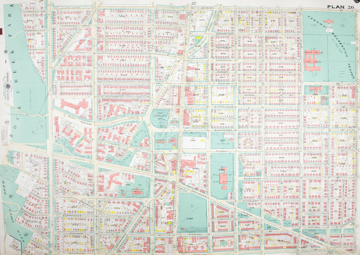 1960 Washington DC Plan 20 - Baist