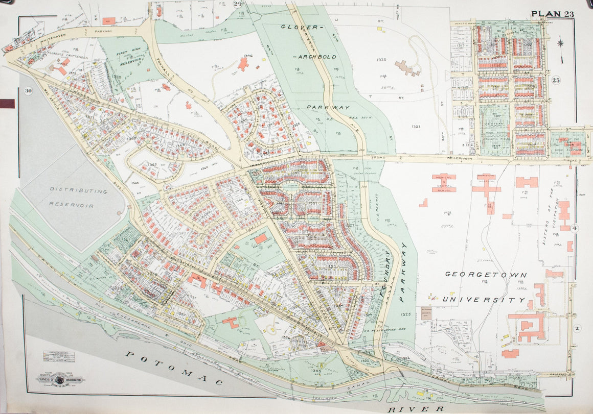 1960 Washington DC Plan 23 - Baist