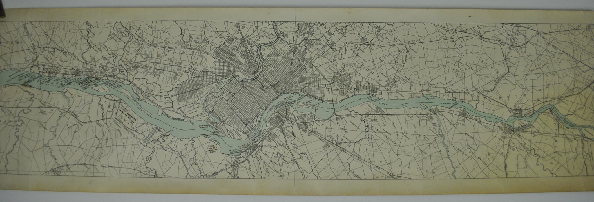 1918 Delaware River District from Trenton NJ to Wilmington Del