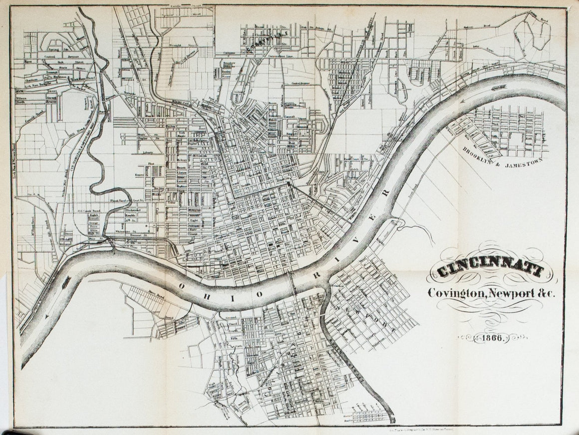 1867 Cincinnati, Covington, Newport &c - Edward Hall
