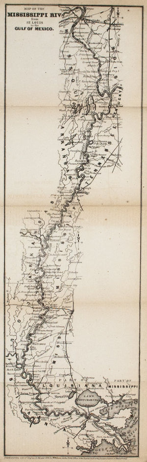 1867 Map of the Mississippi River - Edward Hall