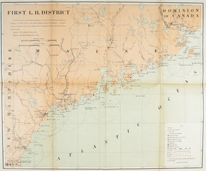 1900 First Lighthouse District - US Light-House Board