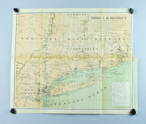 Lighthouse New York Jersey Long Island Connecticut Antique Map 1900