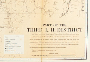1900 Part of the Third Lighthouse District - US Light-House Board