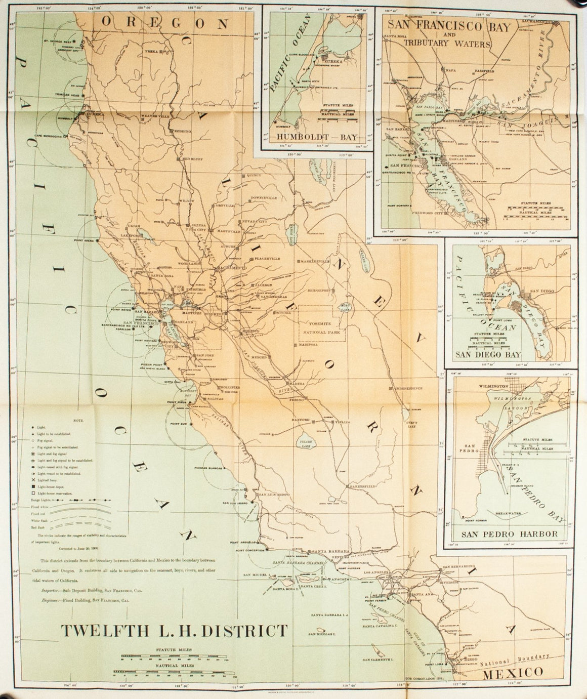 1900 Twelfth Lighthouse District - US Light-House Board