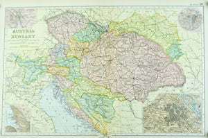 1891 Austria Hungary in Europe