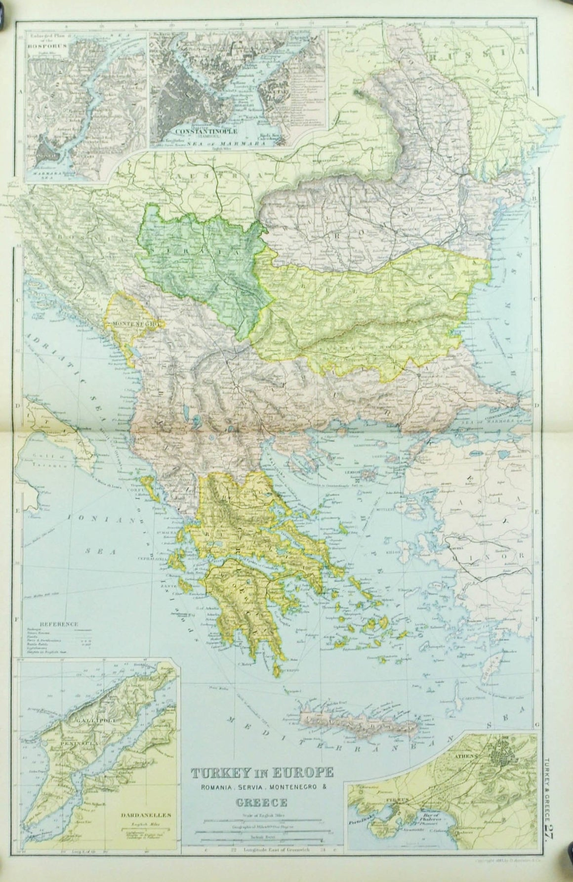 1891 Turkey in Europe
