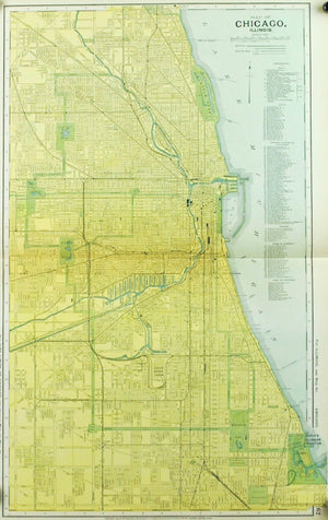 1891 Map of Chicago Illinois