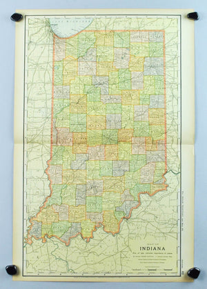 1891 Map of Indiana