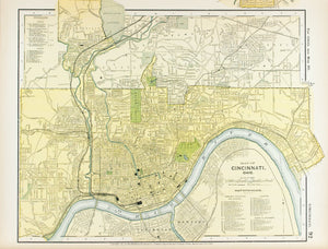 1891 Map of Cincinnati Ohio