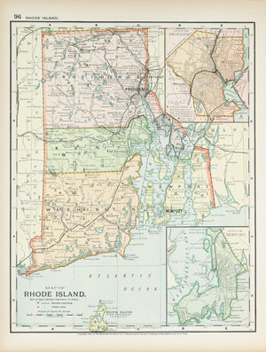 1891 Map of Rhode Island