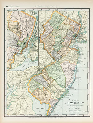 1891 Map of New Jersey