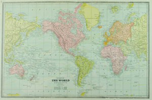 1884 Chart of the World - Cram