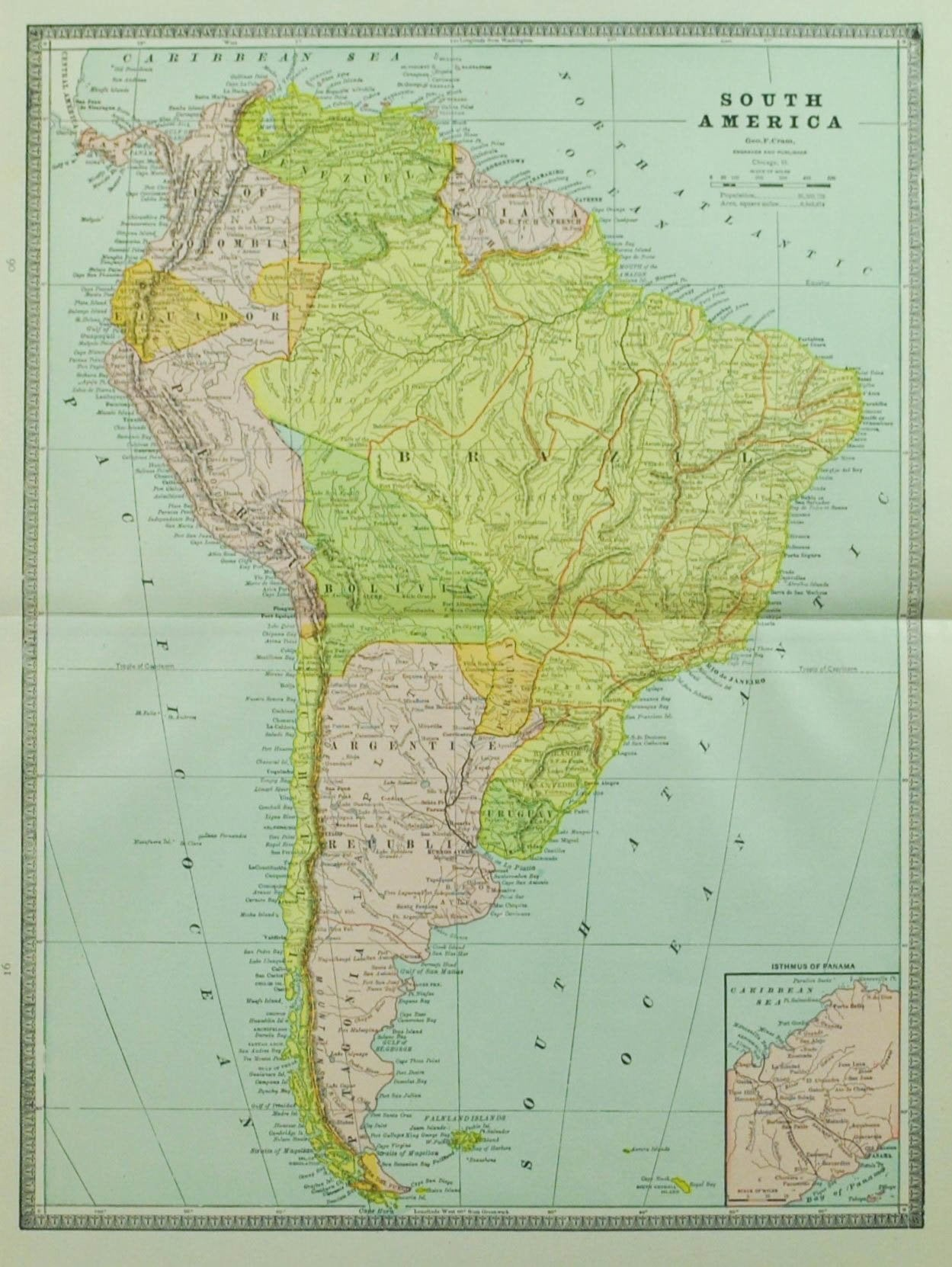 Antique maps original and authentic historic accents tagged cuba 1884 south america cram gumiabroncs Choice Image