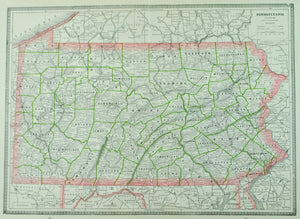 1884 Pennsylvania - Cram