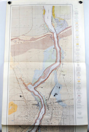 1913 U.S. Geological Survey Areal Geology Map of Niagara River, New York (Niagara Falls) - EM Kindle